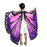 QinMM Kind Baby Mädchen Schmetterlingsflügel Pixie Poncho KostümzubehörVon QinMM (Lila)