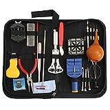 ROSENICE Kit d'outil de réparation Outil de démontage de Sangle de montre Broche Marteau Barre de Ressort Barre de Suppression avec housse-23pcs