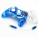 NoyoKere Wired Gamepad Controller Joypad Usb For Xbox 360 Transparent Blue