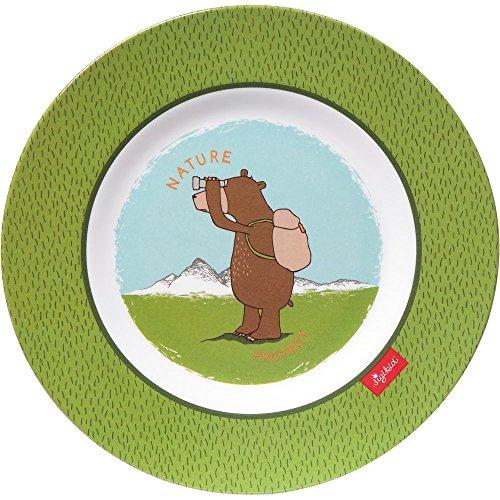 Preisvergleich Produktbild Sigikid Herren Bermudas, 24765Forest Grizzly Teller aus Melamin, 21,5x 0,5cm
