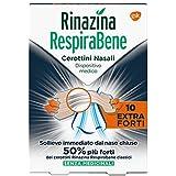 Rinazina Respirabene Cerotti Nasali Extra Forti, Multicolore, 10 Pezzi
