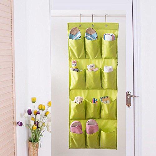 Bllomsem Hohe Qualität Oxford Tuch Hängeorganizer Schuhaufbewahrung für Tür mit 12 Tasche, Hängend Multifunktionale Aufbewahrungstasche Ordnungssystem Schuhschränke