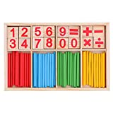 OFKPO Bâton en Bois de Mathématique Matériel Educatif pour Enfants, Bâtons Bois Mathématiques...