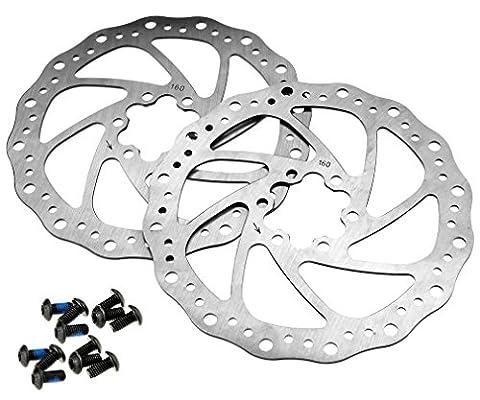 Paar Bike Fahrrad Bremse, Rotoren Rotoren Clean Sweep 160mm