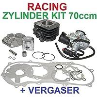 Unbekannt 70ccm Sport Racing Zylinder + VERGASER 17,5 Kit Set für Sachs SPEEDFORCE R Zylinderkit
