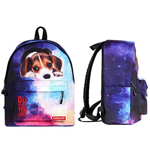 Imagen de ttd 3d cute cat/perro patrón  escuela bolsa de peso ligero  para senderismo viajes camping perro1 alternativa