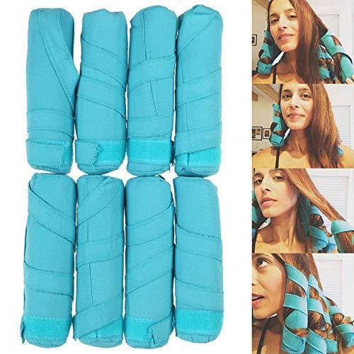 Rizadores de pelo para mujer que duermen durante la noche, rulos para el cabello sin calor, herramienta de bricolaje para peluquería larga