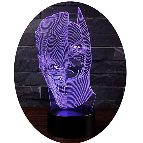 3D Optische Illusions-Lampen NHsunray LED 7 Farben Touch-Schalter Ändern Nachtlicht Für Schlafzimmer Home Decoration Hochzeit Geburtstag Weihnachten Valentine Geschenk (Doppelseitiger Mann)