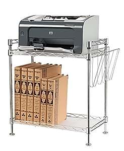r glables et petit support d 39 imprimante fax placer table d 39 appoint tag re debout 2 niveaux. Black Bedroom Furniture Sets. Home Design Ideas