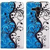 Butterfly Handy Tasche Flip Case Schutz Hülle für Sony Xperia SP /M35H Flower Design Muster OJC-357 Cover Etui Bag Neu