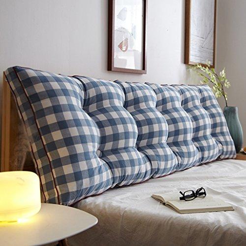 MMM- Coton lavé double long oreiller de chevet de dossier de taille de coussin de coussin de lit de sofa doux ( Couleur : #4 , taille : 150*20*50cm )