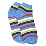 #6: Pajjama Party Cotton Ankle Length Socks for Mens and Women's Blue