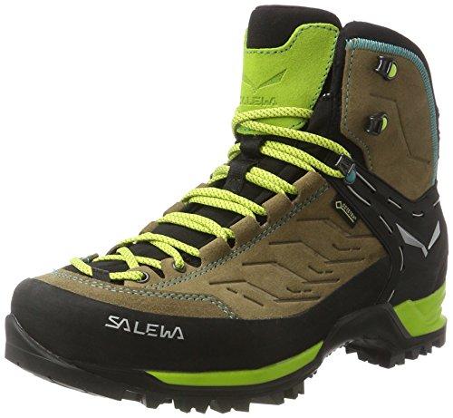 Salewa Damen WS Mtn Trainer Mid Gore-Tex Trekking-& Wanderstiefel, Braun (Walnut/Swing Green 2720), 39 EU