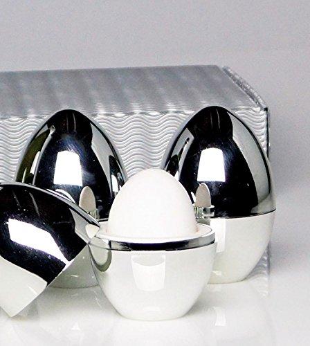 Eierwärmer, Warmhalte-Eierbecher 4er-Set in Geschenkverpackung: Diese Eierbecher halten Frühstückseier warm und sind ein praktischer Hingucker . Produktionsbedingt weisen sie zum Teil leichte Lackfehler auf. (Chefs Die Collection)