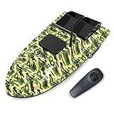 Goolsky Flytec V007 Fish Finder Bateau à appâts pour la pêche 1,5 kg Chargement 500m Télécommande à Vitesse Fixe Double Moteurs Bateau RC (Camouflage, 2 Batteries)