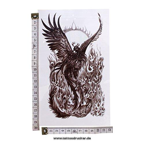 Phoenix Tattoo - Entfernbare Tattoo Aufkleber (1)