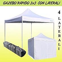 Cenador rápido plegable 3x 3m plegable a Acordeón Feria Pérgola con laterales