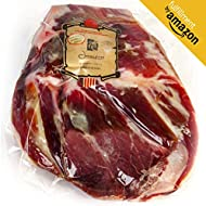Serrano Ham (Shoulder) Cured Free Range Boneless Approx. 1 Kg - Spanish Jamon All Natural Made with Mediterranean Sea Salt & Contains NO Nitrates, Nitrites, Antibiotics, Preservatives or Coloring