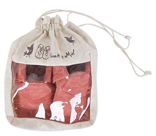 Lait et Miel Leder Lauflernschuhe Krabbelschuhe Babyschuhe Mocassins Design Camel 18-24 Monate Koralle