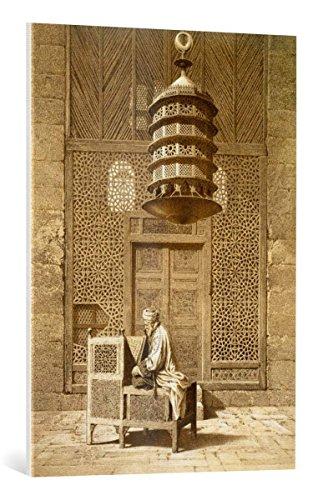 """kunst für alle Leinwandbild: Maurice Keating An Imam reading the Koran in the Mosque of the Sultan, Morocco, 1817"""" - hochwertiger Druck, Leinwand auf Keilrahmen, Bild fertig zum Aufhängen, 65x90 cm"""