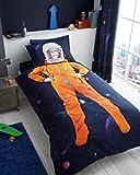 Luxus und modern Kids Panel Multi Charakter/Bettbezug & Kissenbezug Bettwäsche-Set und passender Spannbetttuch separat erhältlich, Space Chimp, Duvet Cover & Pillowcase Set