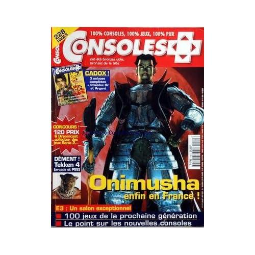 CONSOLES [No 114] du 01/07/2001 - ONIMUSHA / ENFIN EN FRANCE - DEMENT TEKKEN 4 - E3 / UN SALON EXCEPTIONNEL - 100 JEUX DE LA PROCHAINE GENERATION - LES NOUVELLES CONSOLES