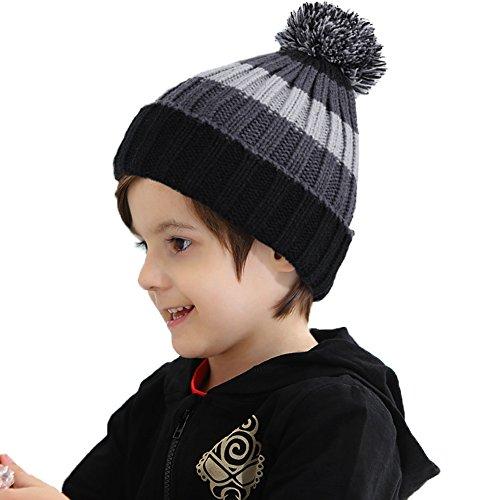 Vbiger Beanie Berretti in Maglia Cappello Inverno per Bambino Cappelli Invernali Bambino Cappello Beanie Bambino