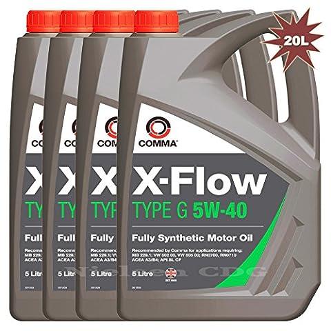 Comma X-Flow Type G 5W-40 Motor Oil 4x5L= 20 Litre