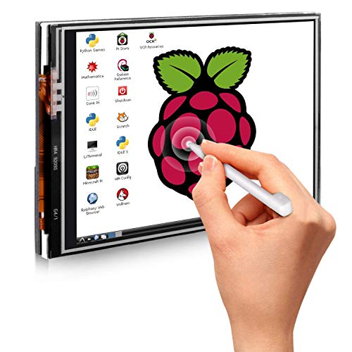 Quimat 3,5'' Zoll Inch Touch Schirm Monitor 320 * 480 Auflösung TFT LCD Display Modul SPI Interface mit Touch Pen for Raspberry pi 2 3 Model B/B+ 2B QSC06
