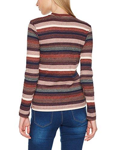 Vero Moda Vmjennah L/S Top Jrs, Maglia a Maniche Lunghe Donna Multicolore (Rose Cloud Stripes:multi)
