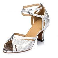 YFF Women's Dance Schuhe hochhackige Tango Ballroom Latin Salsa Tanzschuhe für Damen, haut, 5 cm, 5.