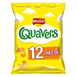 Walkers Crisps Quavers Cheese Multipack Snacks, 12 x 16 g
