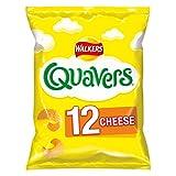 Walkers Crisps Quavers Cheese Multipack Snacks, 12 x 16 g