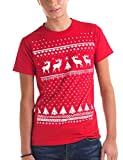 T-shirt Uomo Natale Renna - Rosso (Large)