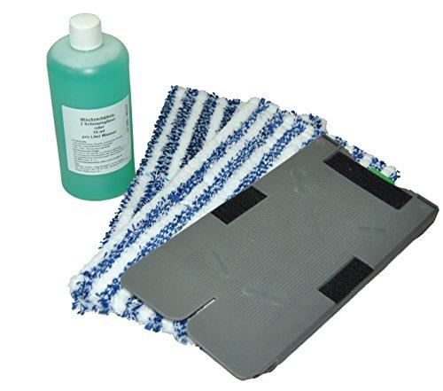Piastra di ricambio per supporto panno di pulizia, 2 panni di pulizia, concentrato universale adatto per il vostro Vorwerk Kobold SP520 e 530, detergente umido