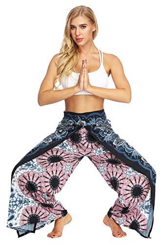 Khanomak Donne Yoga French Terry Allenamento Jogging Attivi Sweat Pantaloni