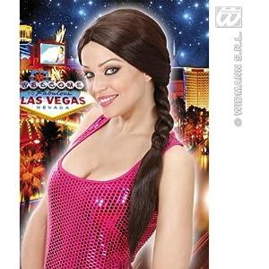 WIDMANN t0740?Mujer de Pelo Largo Peluca Lara Trenzado, Talla única Adultos en Caja, Color marrón