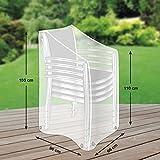 Klassik Schutzhülle für Stapelstühle/Gartenstühle aus PE-Bändchengewebe - transparent - von...