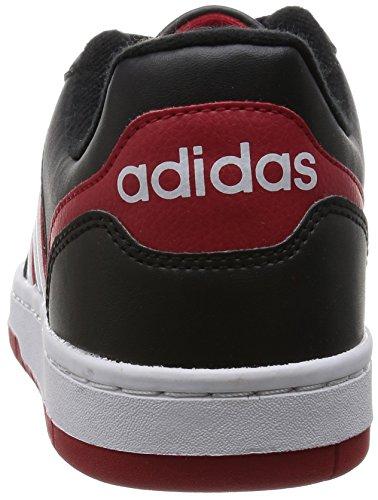 adidas Herren Hoops Team Turnschuhe Schwarz / Weiß / Rot (Negbas / Ftwbla / Rojpot)