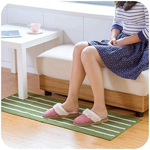 APPWLING Klassische gestreifte Matte Küche Badezimmertür Lange saugfähige Anti-Rutsch-Teppich Teppich @ Kaffee-43 * 110cm