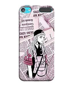PrintVisa Designer Back Case Cover for Apple iPod Touch 6 :: Apple iPod 6 (6th Generation) (Brave girl Paper girl)