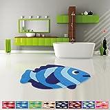 Pro Home Badematte Duschvorleger Badezimmerteppich Auswahl: 50x80cm Fisch blau - dunkelblau