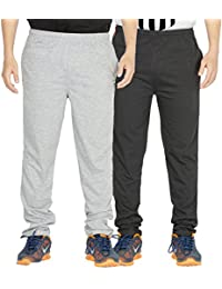 Yo Republic Mens Cotton Track Pant Combo Offer (Pack of 2)(AT-0416-1M_Gray_Carbon_Medium)
