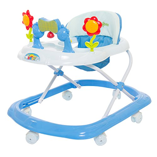 Baybee Bonnie Baby Walker Cum Rocker | Music & Light Function | Easy to Fold, Fun Toys & Activities for Baby (Blue)