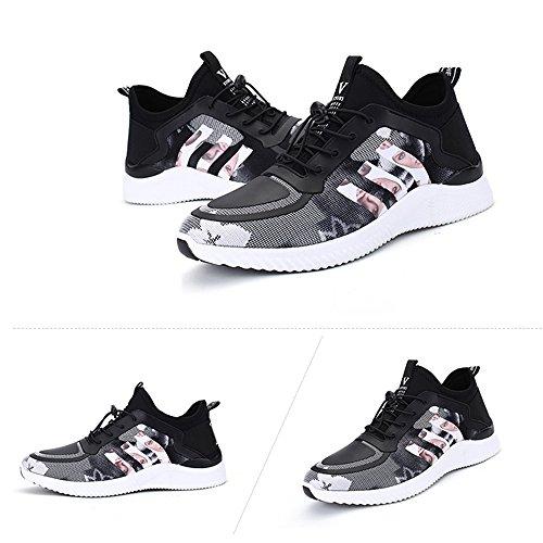 FEIFEI Hommes Chaussures Printemps Et Automne Mode Personnalité Respirant Plate Chaussures 3 Couleurs (Couleur : Gris, taille : EU39/UK6.5/CN40)
