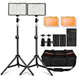 Kit de LED iluminación para Canon Nikon Sony, Yeeteem 160 Regulable Ultra High Power Panel Cámara...