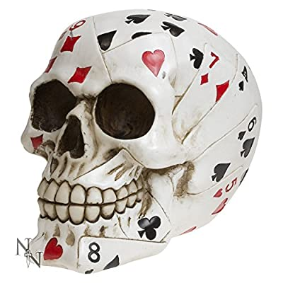 """Fabulous Gothic """"dead Mans Hand"""" Skull Figure Ornament +++ Brand New And Boxed"""