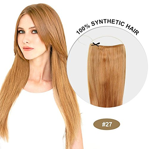 Secret Hair/ Flip-In Hair 20 Inches Invisible Attached Straight Hair / Balabella Hair (Strawberry Blonde(#27))