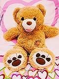 Original Honey Bear ® - XL Teddybär 80 cm Braun Kuschelbär Kuscheltier Stofftier Bär Teddy