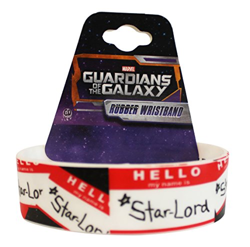 "Preisvergleich Produktbild GUARDIANS OF THE GALAXY Movie Star Lord, Officially Licensed Original Stylish Design, 4"" x 1"" Rubber Wristband"